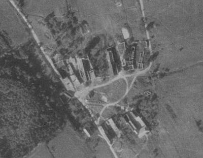 Matčin rodný Hvozd na leteckých snímcích z roku 1952 a 2008
