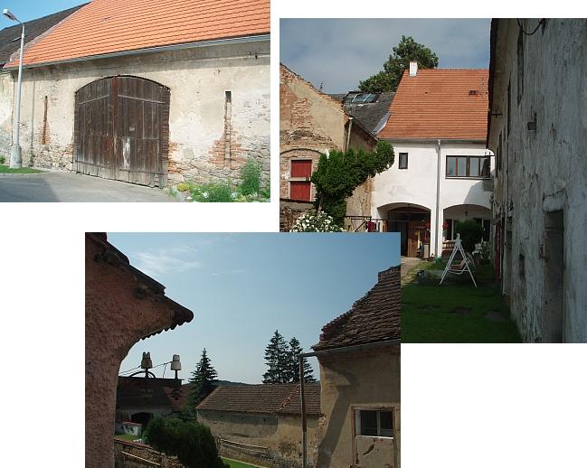 Stodola a dvůr domu