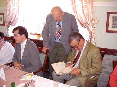 S Karlem Schwarzenbergem a českobudějovickým kronikářem Pavlem Koblasou