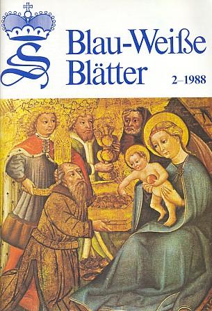 Obálka jednoho z čísel časopisu schwarzenberských archivů Blau-Weiße Blätter, vydávaného v rakouském Murau, vněmž otiskoval své příspěvky pod pseudonymem Milli Schwarz mj. i v rubrice Unvergessene Heimat