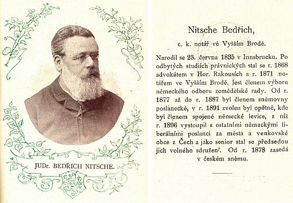 Jeho portrét a medailon z Almanachu sněmu království Českého 1895-1901