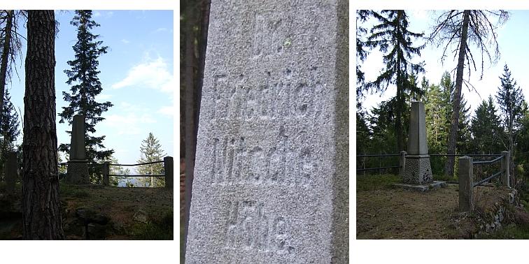 Výšina s pamětním obeliskem z roku 1914 připomíná nad Vyšším Brodem dodnes jeho jméno