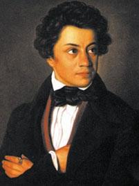 "Julius Mosen (1803-1867), syn židovského kantora z Marieney v Sasku, básník z okruhu ""Mladého Německa"", autor textu písně o Andreasi Hoferovi"
