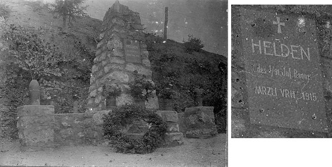 Památník vybudovaný na tomto místě byl zničen v padesátých letech 20. století