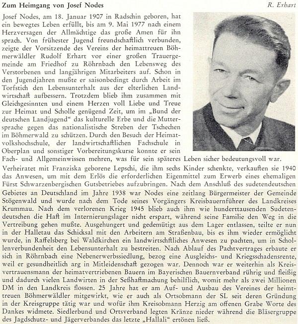 Nekrolog Rudolfa Erharta k úmrtí Nodesova otce