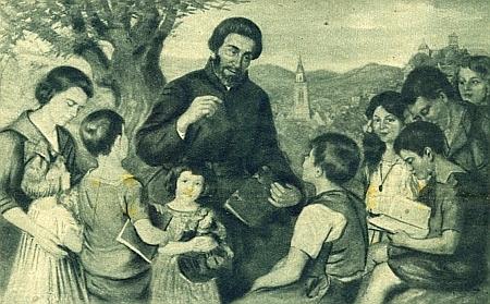 Německý jezuita Petrus Canisius (1621-1697), svatořečený v roce 1925, podle něhož zvolil Noschitzka své řádové jméno, na obraze malíře Wilhelma Ritterbacha (1878-1940)