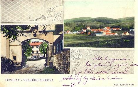 Zdíkov, pohlednice z doby kolem r. 1910