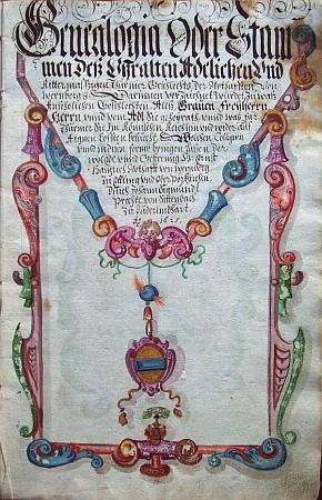 Titulní list (1625) genealogie rodu Notthafftů z Wernbergu