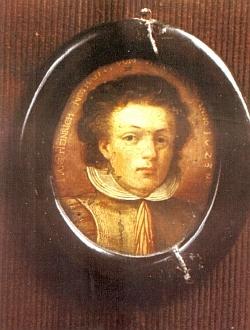 Jeho otec, hrabě Johann Heinrich Notthafft von Wernberg (1604-1665) na podobizně z roku 1623, kdy mu bylo 19 let - krátce na to v souboji sdýkou ztratil jedno oko
