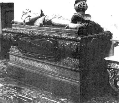 Náhrobek jeho otce v karmelitském kostele ve Straubingu