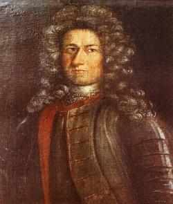 Wolfův syn Johann Heinrich II (1673-1734), zakladatel kostela v české Železné Rudě v roce 1732