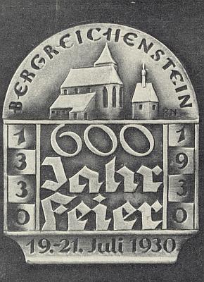 Navrhl i slavnostní odznak k oslavám jubilea města v roce 1930