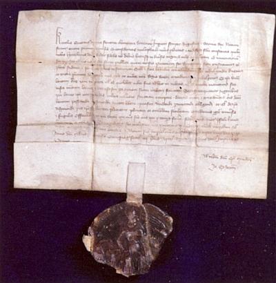 Privilegium Karla IV. pro sedláka Heintzlina Badera z roku 1356 ve sbírkách Muzea Šumavy v Kašperských Horách