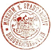 Staré razítko muzea a městského archivu v Kašperských Horách