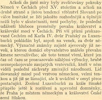 Docela přesvědčivá pasáž z díla Ernesta Denise Konec samostatnosti české