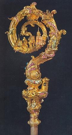Opatská berla tepelského kláštera, chebská práce z doby kolem roku 1750