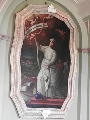 Zakladatel kláštera v Teplé, blahoslavený Hroznata, na obraze zkláštera