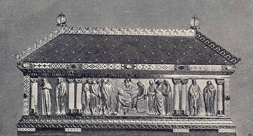 Relikviář blahoslaveného Hroznaty v tepelském klášteře, dílo mnichovských umělců G. Busche a R. Harracha