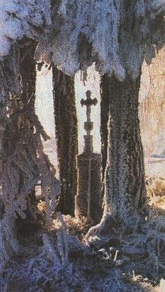 ... a neskutečnou hrou náhod zimní záběr z téhož místa ve vítězném snímku fotografické soutěže časopisu Šumava
