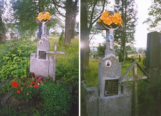 Hrob prarodičů na hřbitově v rodné obci osobně udržuje