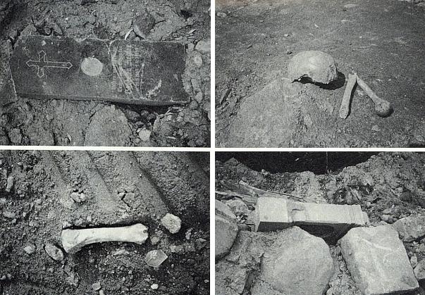 Několik dokumentárních záběrů z podzimu 1992, kdy německý hřbitov v Železné zmizel v základech nové silniční trasy