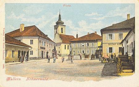 Volarské náměstí na staré pohlednici