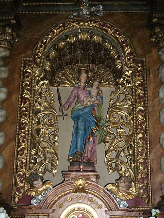 Detail oltáře kostela sv. Floriána