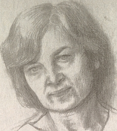 Portrét manželky Svatavy je také jeho dílem
