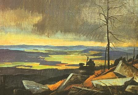 Pohled z Třístoličníku - obraz A. Ohmeho