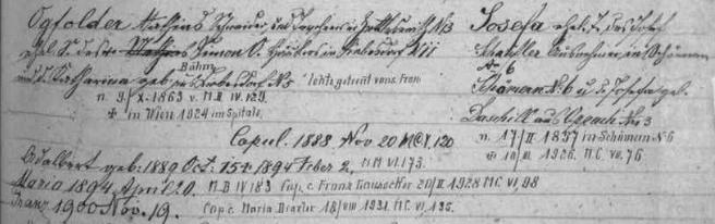 Rodový katastr farní obce Rožmitál na Šumavě a jeho záznam o rodině Mathiase Ogfoldera (Opfoltera)