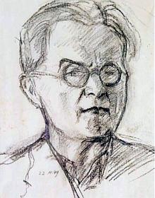 Jeho autoportrétní kresba