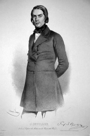 Litografie Eduarda Kaisera z roku 1850 zachycuje téměř celou jeho postavu a je provázena i vlastnoručním podpisem zpodobeného