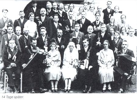 Jeho text o svatbách v Trutmani zmiňuje kromě svatby rodičů ioddavky Josefa Hoffelnera o 14 dní později s Rosou Ortnerovou, otcovou sestřenicí