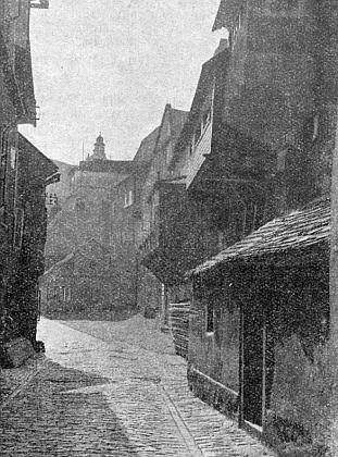 Ještě jeden starý záběr z českokrumlovského Parkánu