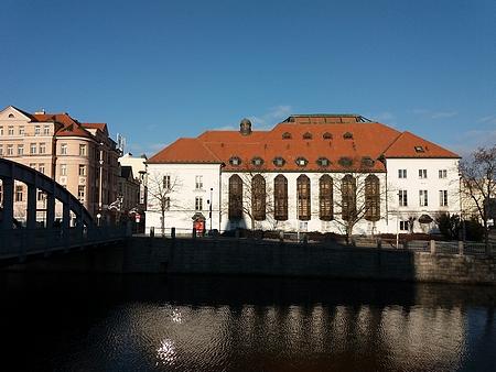 Českobudějovické divadlo na snímku z roku 2019