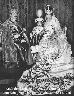Po korunovaci svého otce Karla králem uherským v prosinci 1916