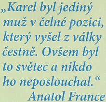 Co řekl o jeho oci Anatole France