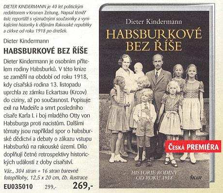 Anonce knihy o něm, vydané nakladatelstvím Ikar