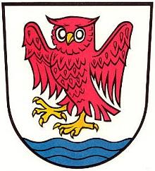 Znak bavorského města Pöcking, kde zemřel