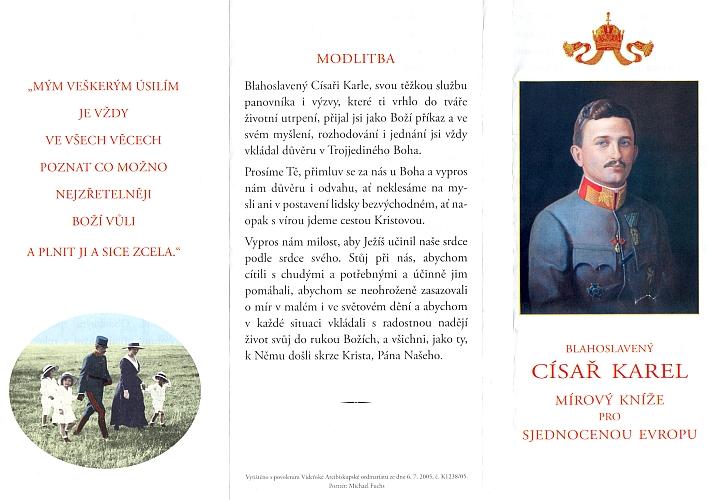 Modlitba vydaná i česky roku 2005 vídeňským arcibiskupstvím