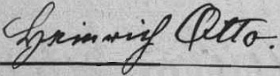 Podpis ze stránek českobudějovické knihy oddaných - byl dědečkem Marie Wicpalekové