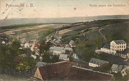 Rodné Petrovice u Chabařovic na staré pohlednici