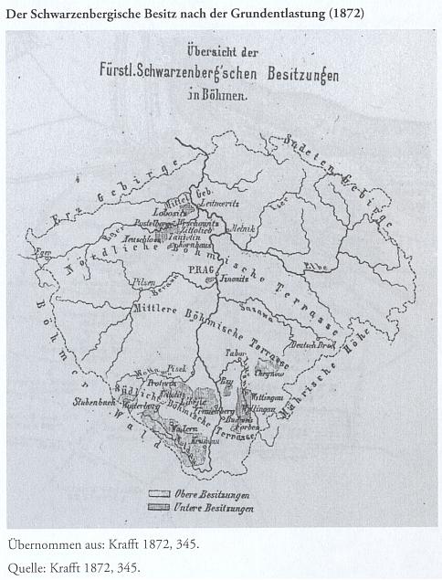 Obrazovou přílohou jeho knihy o Schwarzenbercích jsou i dvě mapové přílohy, znázorňující rozsah rodového panství v 19. století v rámci jižních Čech i celé české kotliny (viz i mapa Schwarzenberského panství Český Krumlov