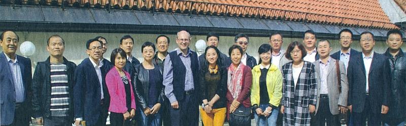 S historiky z Pekingu, kteří v roce 2015 navštívili Sudetoněmecký dům v Mnichově