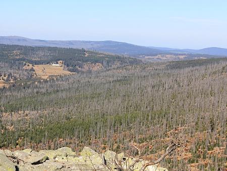 Pohled z Luzného na Březník