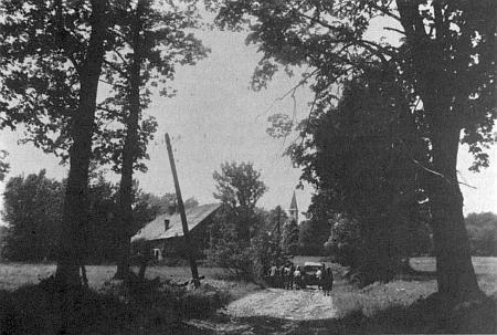 Poslední známý snímek hájovny v někdejším Glöckelbergu