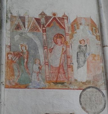 Středověká sochařská a malířská výzdoba, zachovaná v kašperskohorském kostele sv. Mikuláše