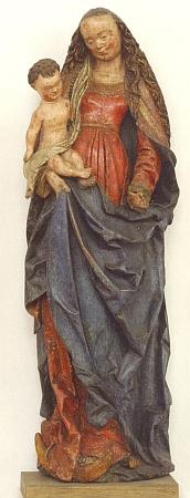 Jinou plastikou, o níž hovoří ve svém textu, je Madona na půlměsíci (Assumpta) z Lužnice uTerčí Vsi (dnes Pohorská Ves), pocházející někdy z první čtvrtiny 16. století a tvořící dnes součást sbírek Alšovy jihočeské galerie