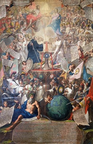 Obraz Cisterciácké nebe, který v katalogu česko-rakouské zemské výstavy v roce 2013 s expozicí i ve Vyšším Brodě podrobně popsal Jiří Franc