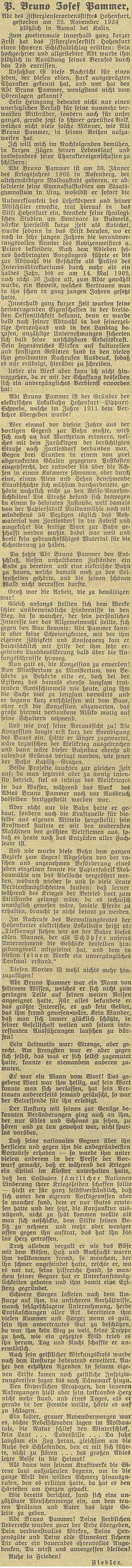 Obsáhlý nekrolog od Adolfa Fiedlera v témže periodiku